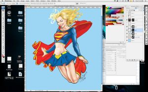 Super Girl Daily Sketch WIP II by mvitacca