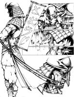 samurai pages by harveytsketchbook