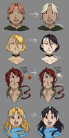 Palette Changes for Tucker Family by HitanTenshi