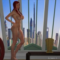 Red Haired Shemale Naked by doddle9