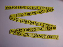 Beaded Police Line Tape by Bright-Circle