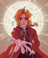 Edward Elric Print by SonicRocksMySocks