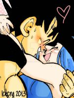 DBZ- SS: Eskimo kisses by Icecry