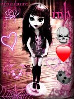 Draculaura from Monster High gothic by DarkRoseDiamond123