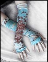 Lagoon Arm Warmers by ZenAndCoffee
