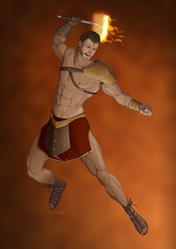Revenge of the Pantheons : Hephaestus by doubleleaf