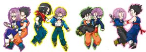 Triple Gnohans,No.17 x Trunks by Natsuhati