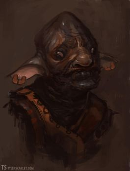 Goblin Portrait by TylerScarlet