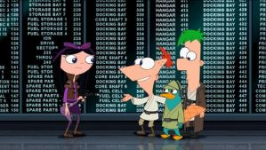 Pilot Isabella, Phineas, Ferb And Perry by ShuelAhmed