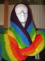 Rainbow Infinity Scarf/Cowl by MetoriasProjects