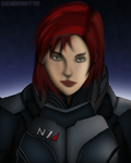 Commander Shepard (Mass Effect) by DENDEROTTO