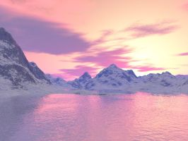 Arctic Sunset 3b3d by KSXZT