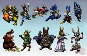 Super Smash Bunnies PART TWO by meroe1313