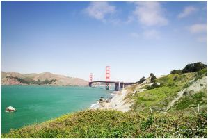 Golden Gate Bridge from a Distance by Argolith