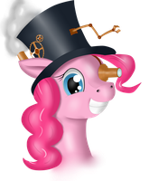 Steampunk Pinkie Pie by Ravirr94