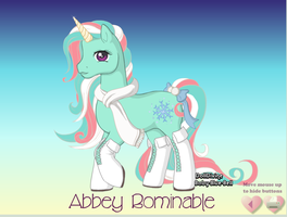 Abbey Bominable Pony by RemixPop122