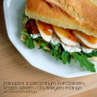 Chicken sandwich with goat cheese n mango chutney by Pokakulka