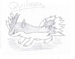 Quilava Drawing by lambo311