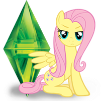 Fluttershy The Sims 3 icon by RaiTheKitty