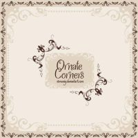 Premium Ornate Corners Brushes by Romenig