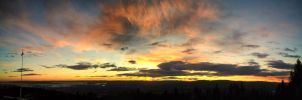 Grefsenkollen sunset panorama by scwl