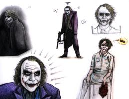 joker doodles by rockedgirl