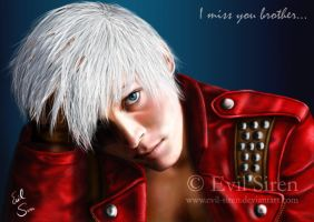 Dante 'I miss you brother' by Evil-Siren