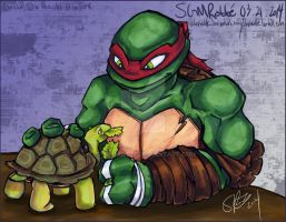 TMNT - :Raph n Spike: by StephRatte
