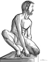 327 - Male Study X by Shasel