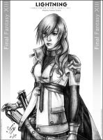 Lightning from FF XIII by areemus