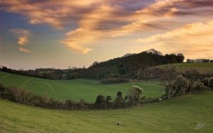 Farthing Downs Sunset 8 WP by andy1349