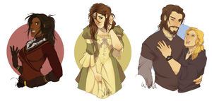 Half-body commissions - Batch #1 by Ellie-Commissions