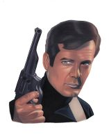 Roger Moore (Live And Let Die) by DixieKong86