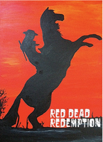 Painted Red Dead Redemption by wolfgal04