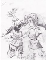 Link and skull kid by oXshortstackXo