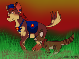 Sanco and Flint Redrawn by The-Smile-Giver
