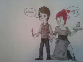 Mr. Todd and Mrs Lovett by MrSimonConnor