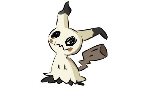 Mimikyu Transparent by butercup187