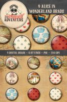 9 Alice in Wonderland Brads by Whimsical-Adventure