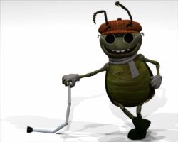 Blind Bug from 3d movie by eosmusashi