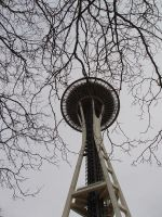 Space Needle and Trees by RaithsEnvyMe