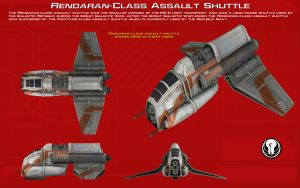 Rendaran-Class Assault Shuttle ortho [2][New] by unusualsuspex