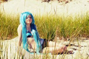 Swimsuit Miku Hatsune by IdenCat