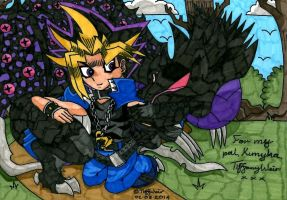 Yami Yugi aka Atem and Malassa *Request* by trinityweiss