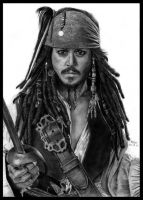 I'm dishonest man. Trust me - Captain Jack Sparrow by Red-Szajn