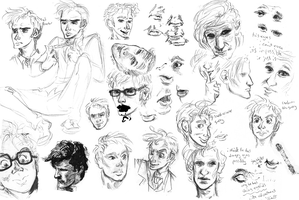 Doctor Who sketchdump by murr-ma-ing