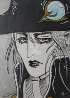 Vampire Hunter D manga style ACEO card by LadyNin-Chan