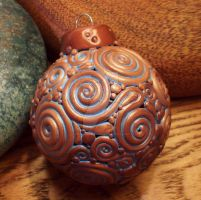 Copper Patina Filigree Ornament by MandarinMoon