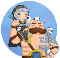 Ashe and Braum by Maririnn