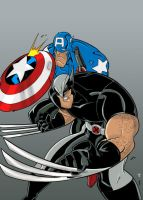 Wolverine and Cap by TheBoo by Blindman-CB
